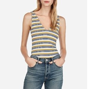 NWT Express One Eleven Striped Ribbed Tank